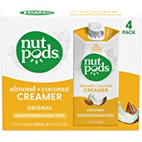 nutpods Original, Unsweetened Dairy-Free Creamer, Whole30, Paleo, Keto, Non-GMO and Vegan, for Coffee, Tea and Cooking…