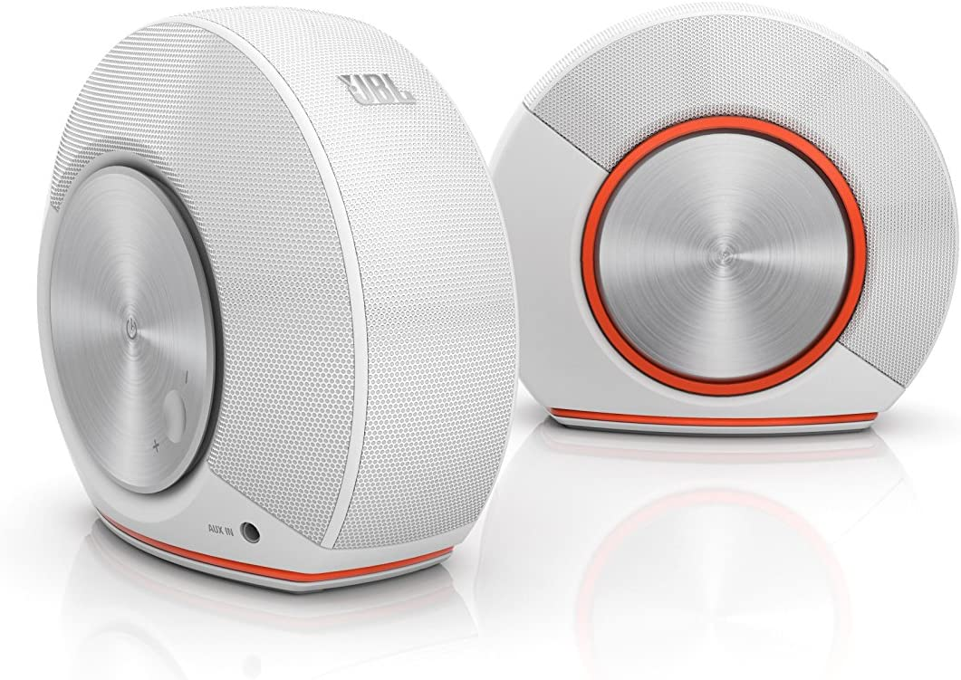 JBL Pebbles Plug and Play Stereo Computer Speakers - White