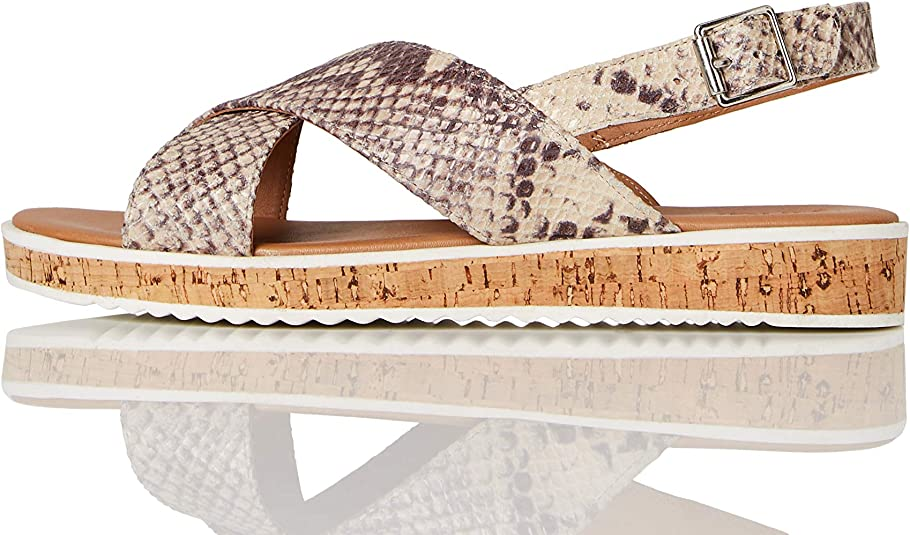 Sandalias Corcho con plataforma plana Mujer