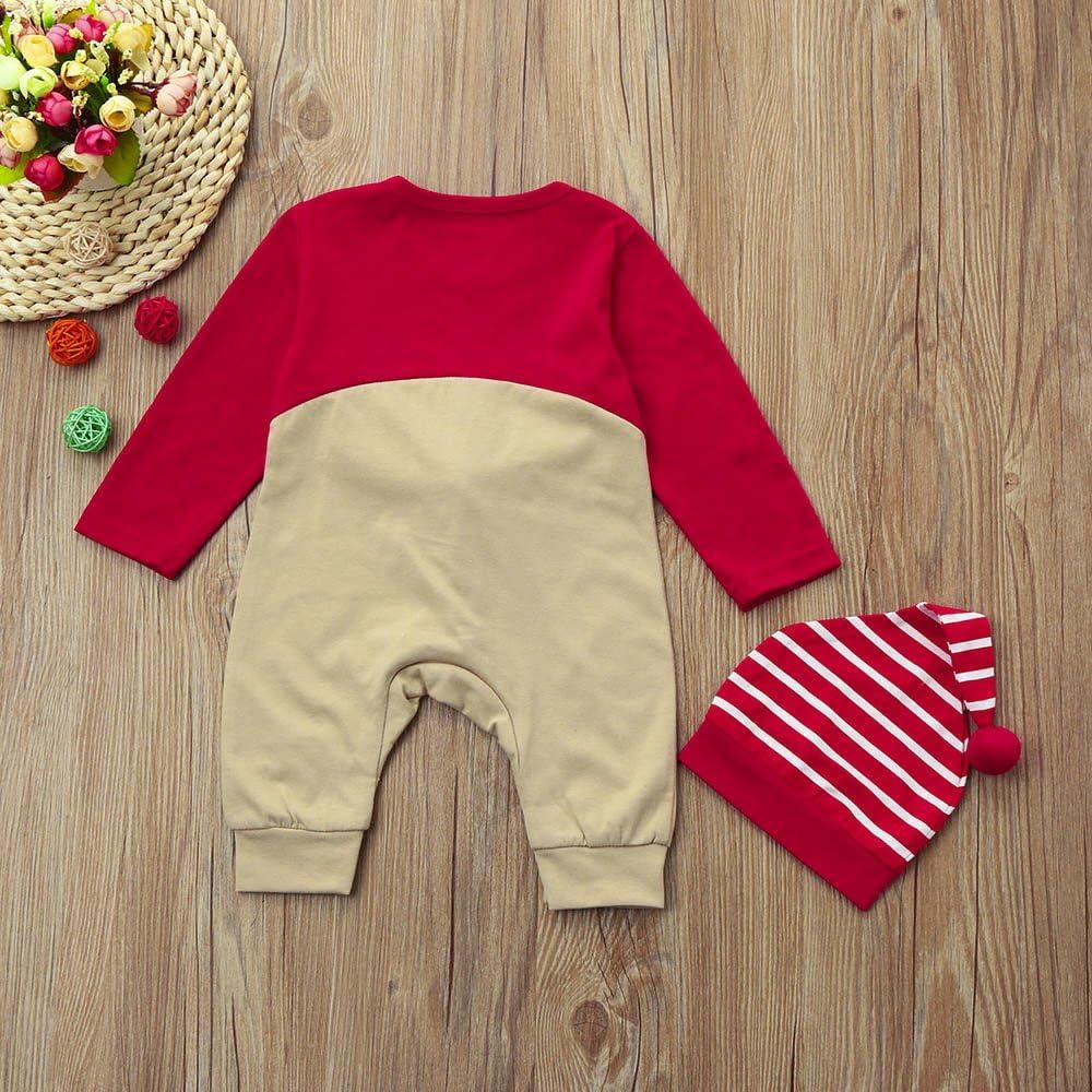 FORESTIME 0-24 Months Baby Boys Girls Christmas Sweatshirt Warm Fur Reindeer/Cartoon Print Long Sleeves Party Top