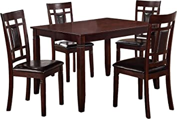 Amazon Com Poundex Kitchen And Dining Room Sets Multicolor Table Chair Sets