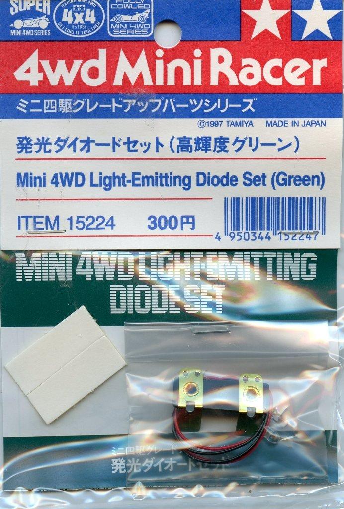 人気特価 タミヤ発光ダイオード4 WD WD Mini Mini Racerセットグリーン2パック# 15224 15224 B01MA5FHDG, Momo Select:4c715b25 --- senas.4x4.lt