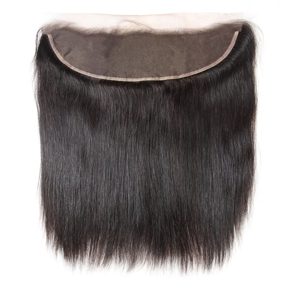 Brazilian Straight Hair 3 Bundles With Frontal Closure 13×4 Ear To Ear Lace Frontal With Bundles 100% Unprocessed Virgin Human Hair Extensions Weave Natural Color (22 24 26 +20 Frontal) by LONG YAO (Image #7)