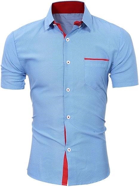 Axchongery-Men clothes Camisa de Manga Corta para Hombre ...