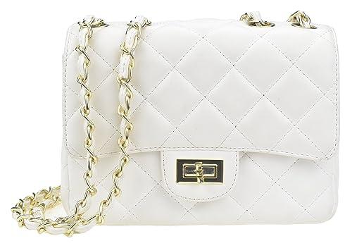 Covelin Women s Leather Fashion Handbag Quilting Envelope Cross Body  Shoulder Bag White 67ccd26432761