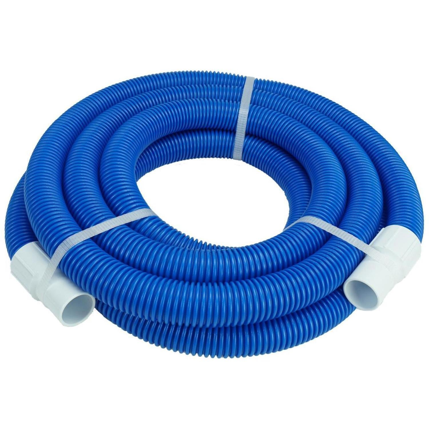 Pool Central 21' Blue Blow Molded PE Vacuum Hose With White Cuffs