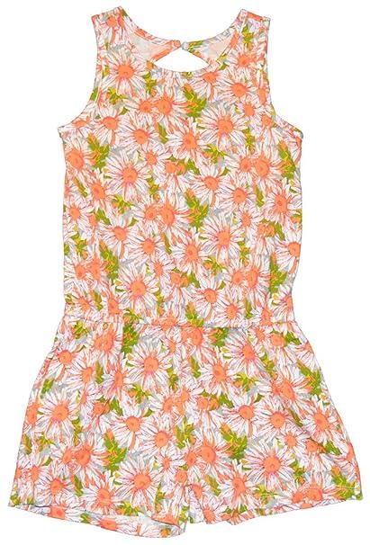 349866cfeed Amazon.com  Gap Kids Girls Orange Floral Shorts Romper Large 10 ...