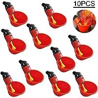 Kitchen-dream 10PCS Tazas de plástico automáticas para bebederos