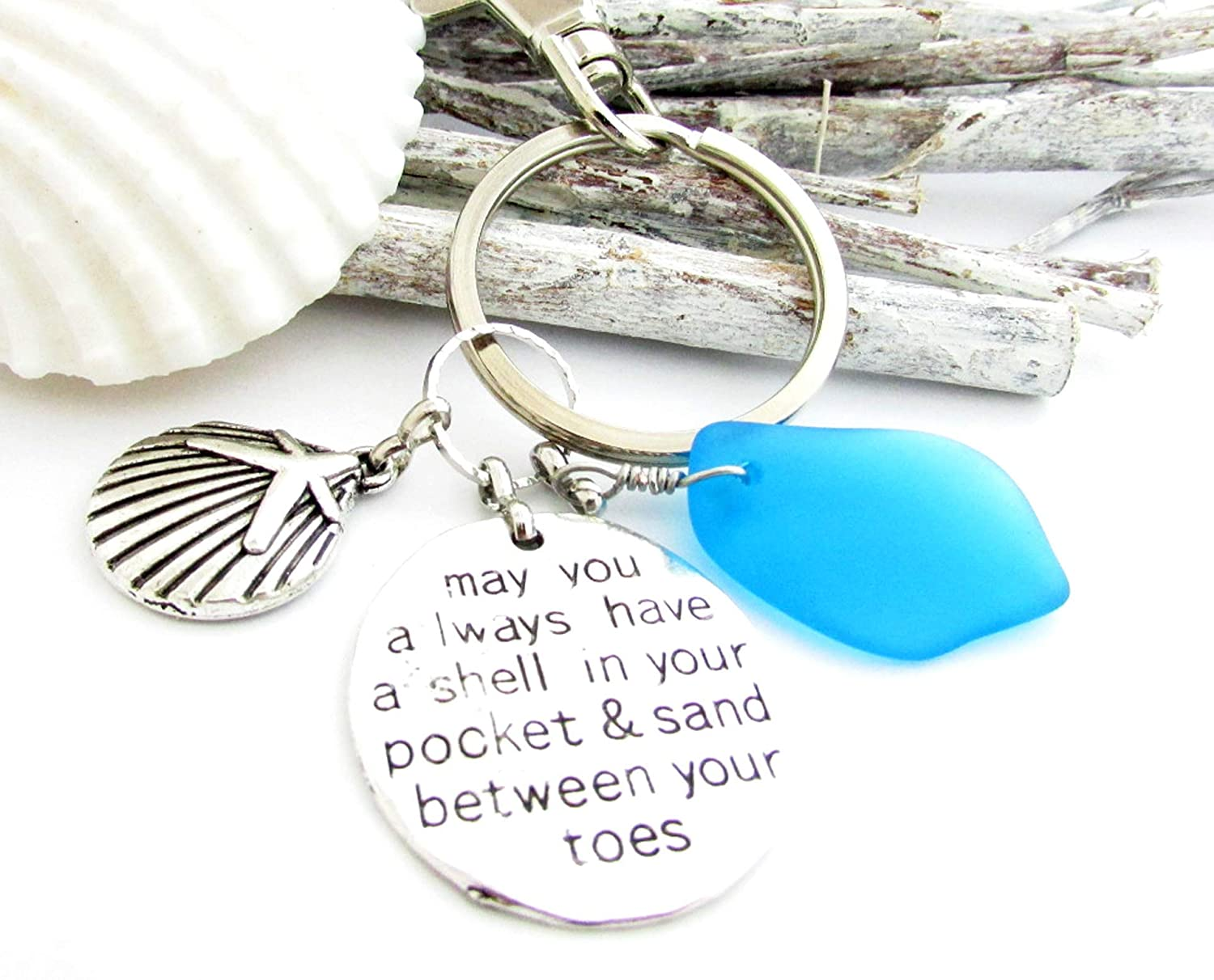 Sea glass necklace Seaglass jewellery Sea Shell jewelry  Unique Gifts for women Birthday gift for her Beach glass necklace Ocean