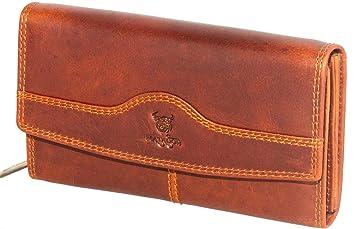 92479a2054179f MATADOR Damen Frauen Geldbörse Echt Leder Langbörse RFID Portmonee Braun  Hochwertig Viele Vertauungsmöglichkeiten