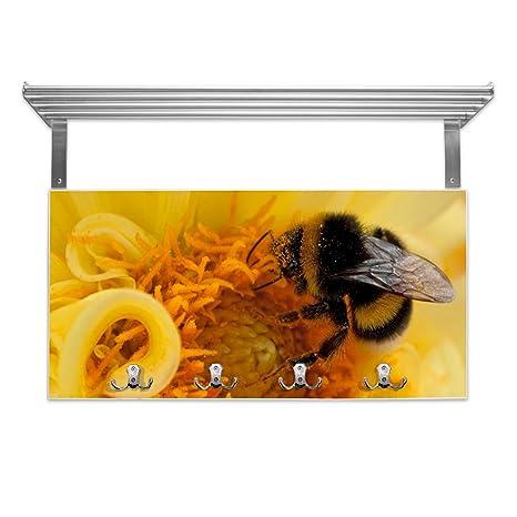 banjado Color Blanco Perchero con Estante y diseño  Bumble Bee ... 088d12ee561