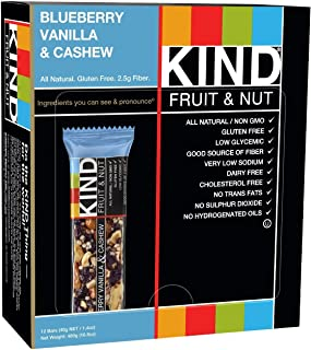 product image for KIND Fruit & Nut, Blueberry Vanilla & Cashew, 4 Count / 1.4 oz (Pack of 4)
