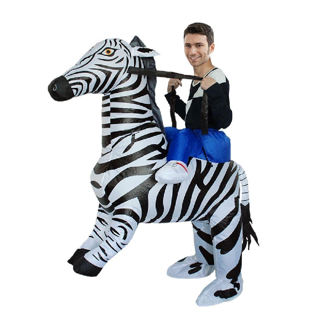 Halloween Inflatable Costume Zebra Cosplay Party Dress Up