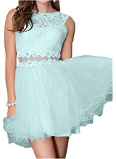 DressyMe Womens Stylish Tulle Cocktail Dresses Party See-Through Lace