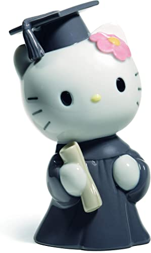 NAO Hello Kitty Graduation Day. Porcelain Hello Kitty Figure.