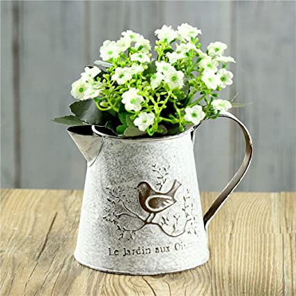 Amazon Vancore French Style Shabby Chic Mini Gift Metal Pitcher