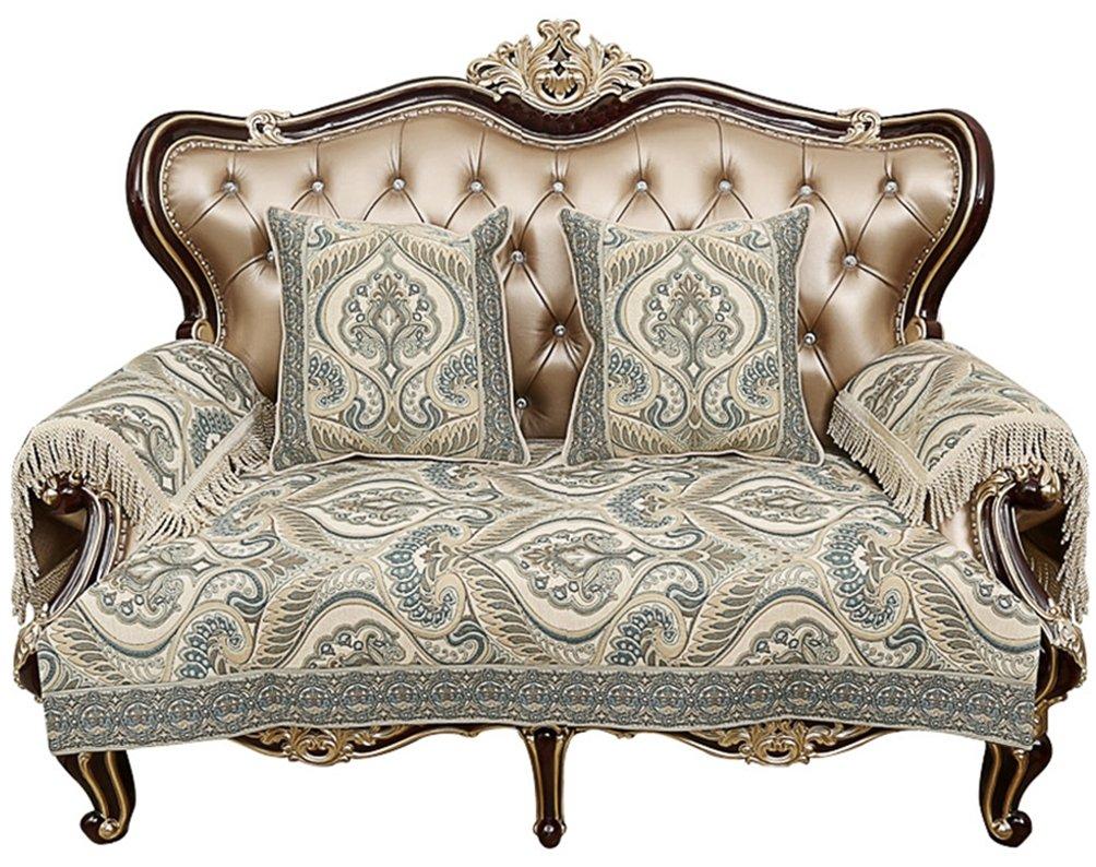 Sideli luxury chenille jacquard sofa slipcover anti slip sectional furniture protector petproof35x47 sofa cover beige