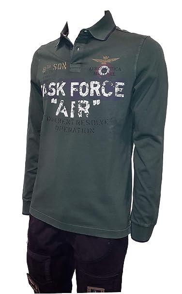 Aeronautica Militare - Polo - para Hombre 39238 Verde Bandiera XX ...