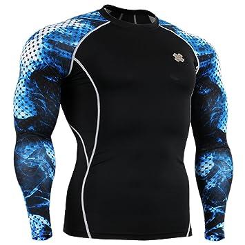 Fixgear Camiseta de compresión para hombre, para mujer MMA Sports Compression Under Base layer Shirt