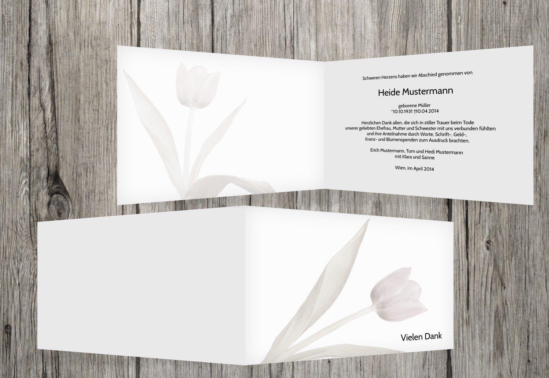 de moda blancoo 50 Karten agradecimiento luto tulipán, Weiß, Weiß, Weiß, 50 Karten  Obtén lo ultimo