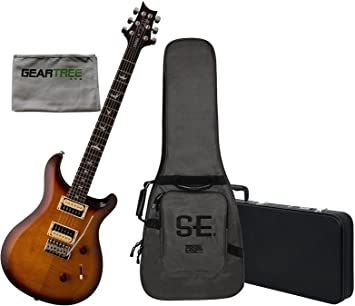 PRS SE Custom 24 guitarra eléctrica sunburst W/funda, carcasa rígida ...