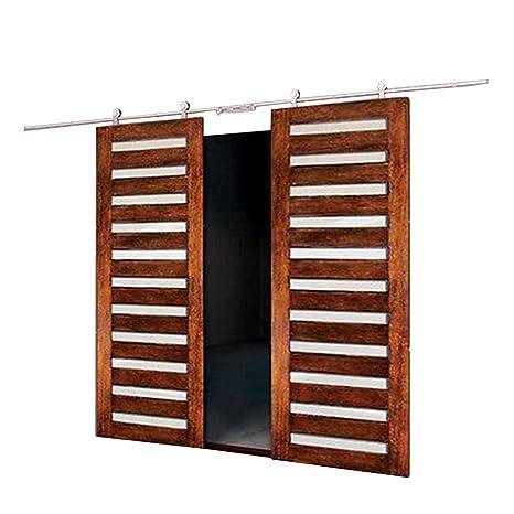 Mophorn kit moderno porta scorrevole a doppia porta interna in ...