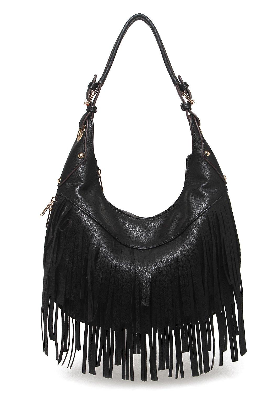 Style Strategy Bella Fringe Hobo Bag