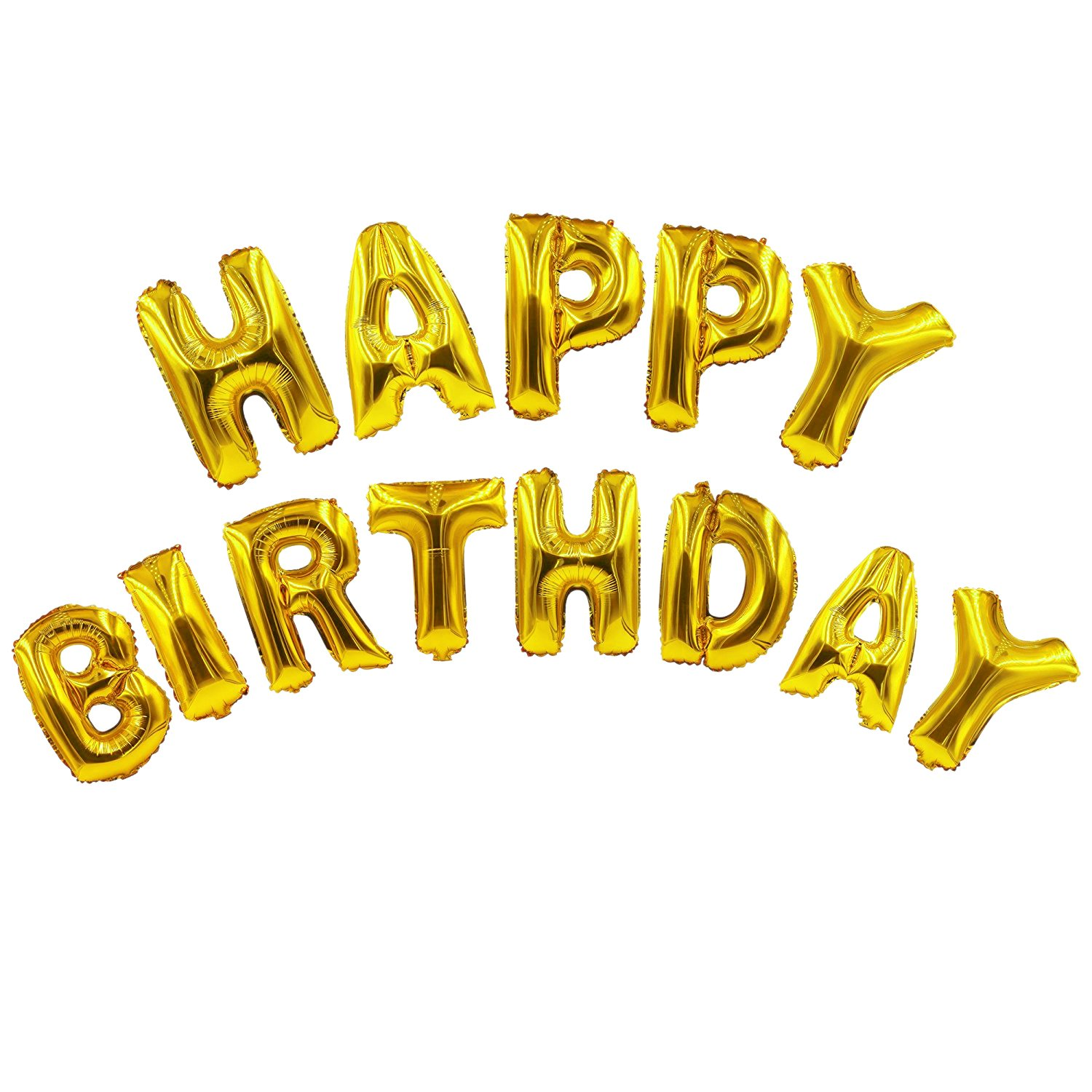 Amazon.com: Emivery Happy Birthday Balloons Banner, Letter Alphabet ...