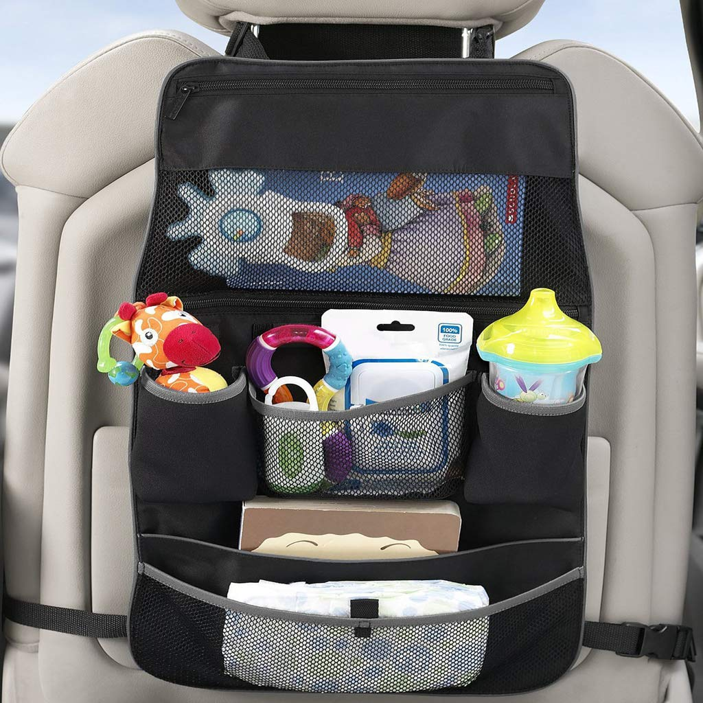 Amazon.com: Prettyia Car Seat Bag Storage Car Covers Back Seat Organizer Auto Multi Holder Black: Baby