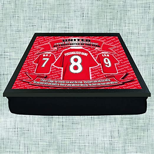 Manchester United Football Shirt Personalised Lap Tray Gift