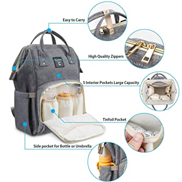 18bdc253dddf Diaper Bag Backpack for Baby Care