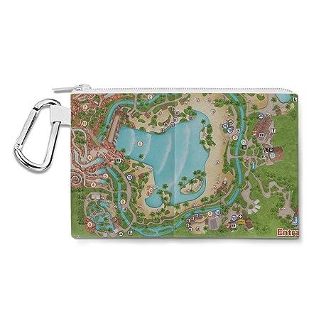 Amazon.com : Typhoon Lagoon Map Canvas Zip Pouch - XL Canvas ...