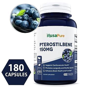 Amazon.com: Mejor Pterostilbene 150 mg 180 Caps (Non-GMO ...