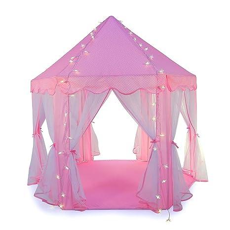 585892c4ffbbf9 Truedays Tenda a Casetta Tenda per Principessa Casa e Castello Giochi per  Bambini con Stella Lucente