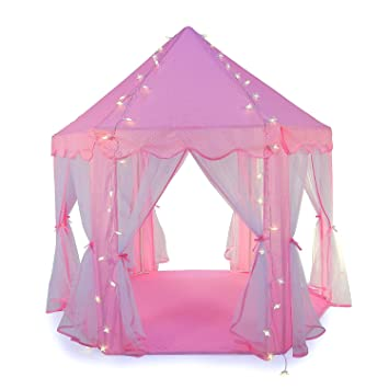 Truedays Girls Princess Castle Play Tent Large Playhouse Indoor Outdoor for Kids Balls Not Included  sc 1 st  Amazon UK & Truedays Girls Princess Castle Play Tent Large Playhouse Indoor ...
