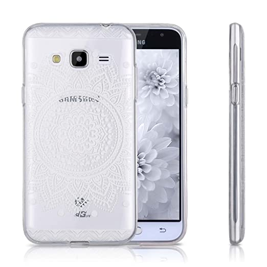 4 opinioni per Samsung Galaxy J3 2016 Custodia, TYJTECH Coperchio Trasparente del Gel di TPU