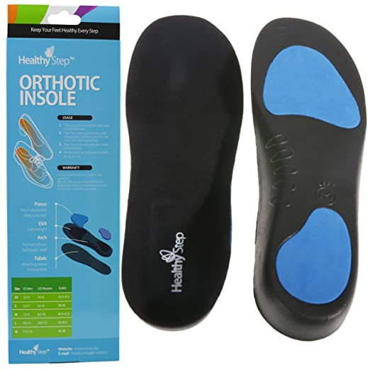Healthy Step? Full Length Orthotic Insole-orthotic Inserts-best Orthopedic Insole for Plantar Fasciitis, Flat Feet and Painful Foot (S/5.5-7)