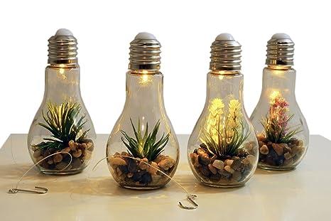 4x Led Deko Gluhbirne Glas Gluhlampe Hangelampe Tisch Leuchte