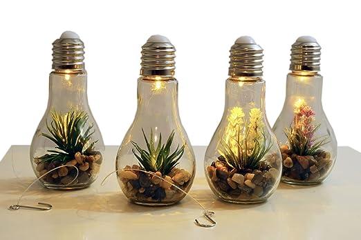 Fesselnd 4x LED Deko Glühbirne   Glas Glühlampe Hängelampe Tisch Leuchte Licht Lampe