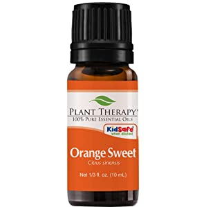 Plant Therapy Orange Sweet Essential Oil | 100% Pure, Undiluted, Natural Aromatherapy, Therapeutic Grade | 10 Milliliter (⅓ Ounce)