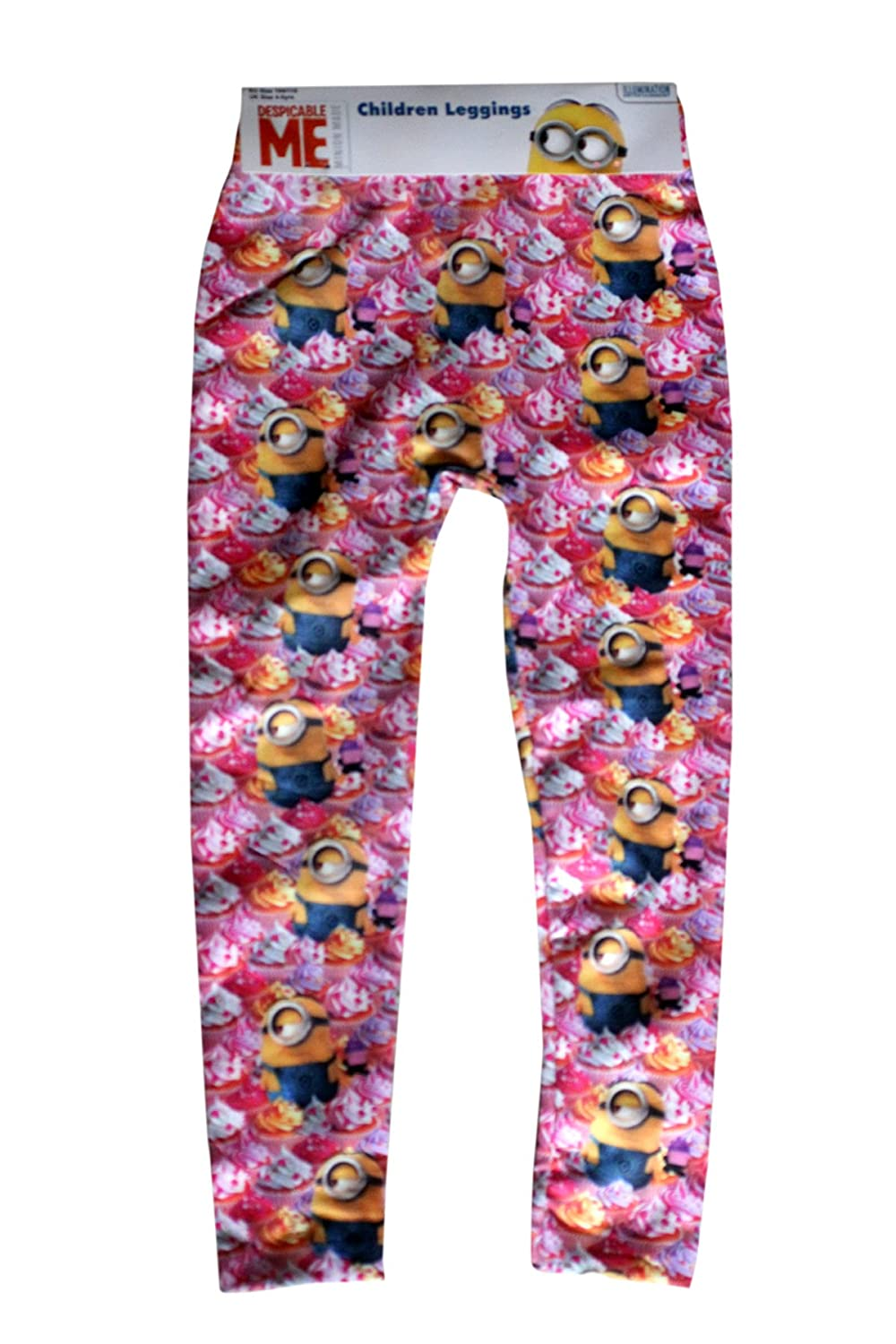 Despicable Me Minion Leggings Girls Skinny Trousers Bottoms Pyjama Size 2 – 9 Years