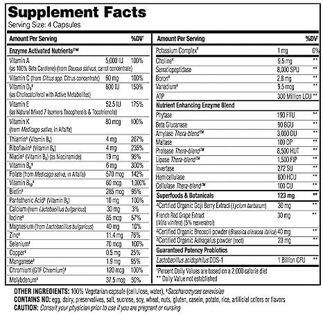Enzymedica Nutrition Multi Vitamin for Women 50 Plus (Non-GMO, Vegetarian, 60 Capsules) by Enzymedica