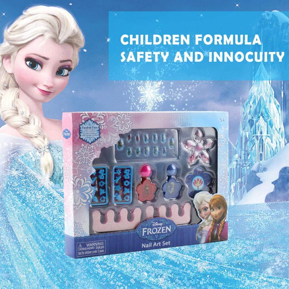 flouris New Disney Frozen Nail Polish Girl Princess Nontoxic Nail Polish Makeup Set Kids Cosmetics Toy by