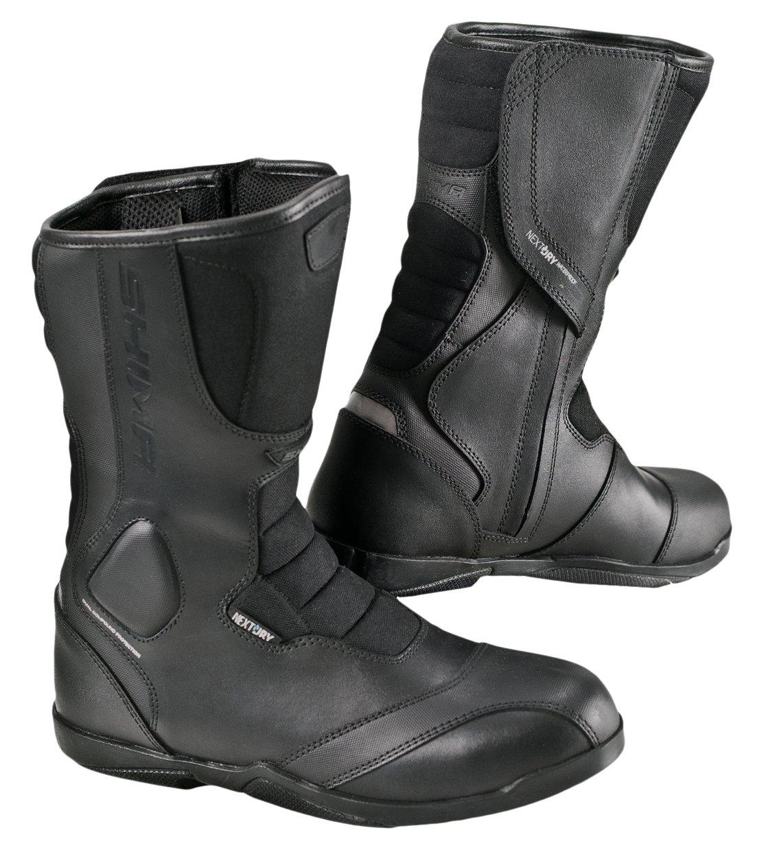 SHIMA STRADA LADY, Road Women Sport Retro Leather Classic Black Motorcycle Boots (39, Black)