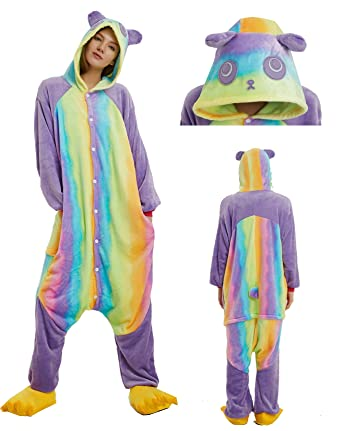 MiFier Unisex Adults Animal Pajamas Unicorn Cosplay Costume Kigurumi Onesie (S (Height:59""