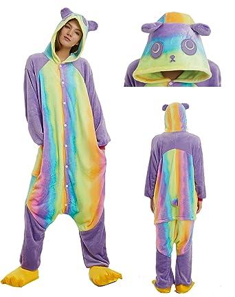 MiFier Unisex Adults Animal Pajamas Unicorn Cosplay Costume Kigurumi Onesie (S (Height:59&quot