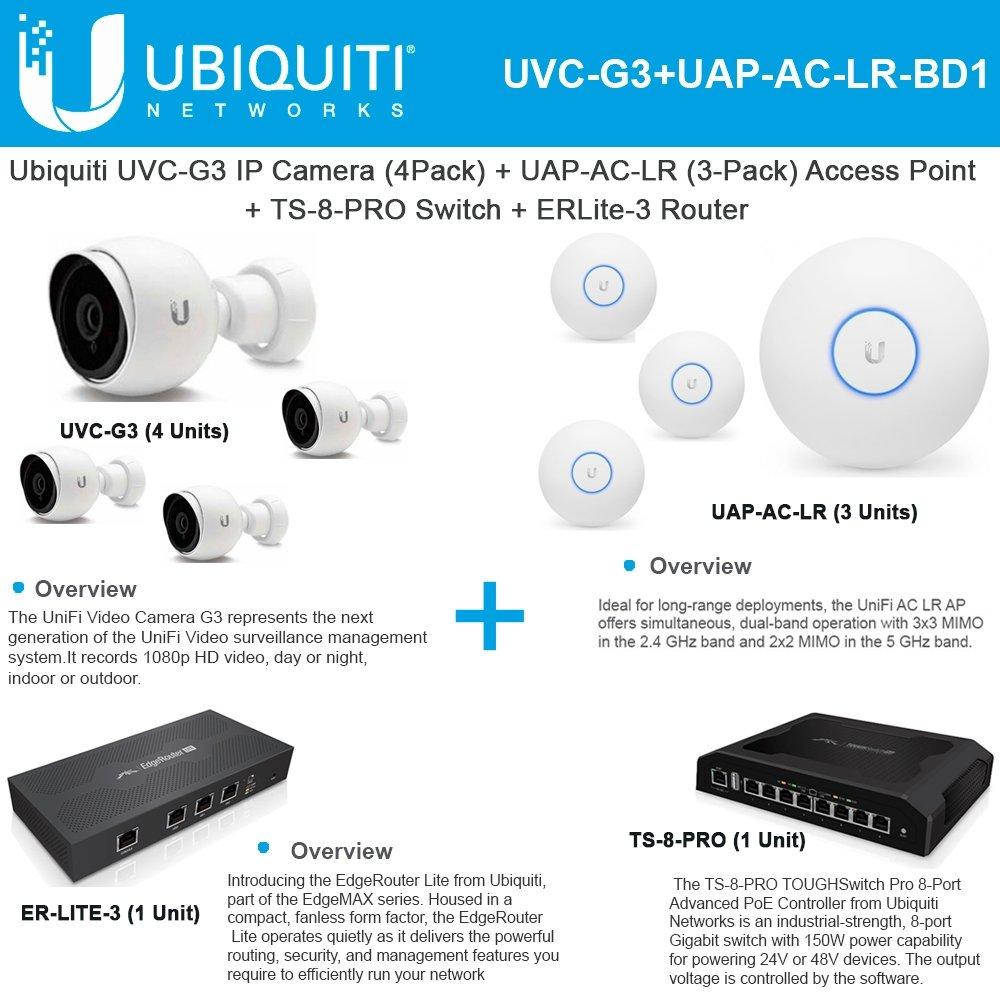 Uvc G3 Ip Camera X4 Uap Ac Lr Access Point X3 Ts 8 Unifi Ap Long Range Pro Switch Erlite 3 Electronics