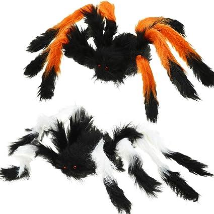 Extra Large Size Black Plush Spider Prank Toy for Party Halloween Decoration UK
