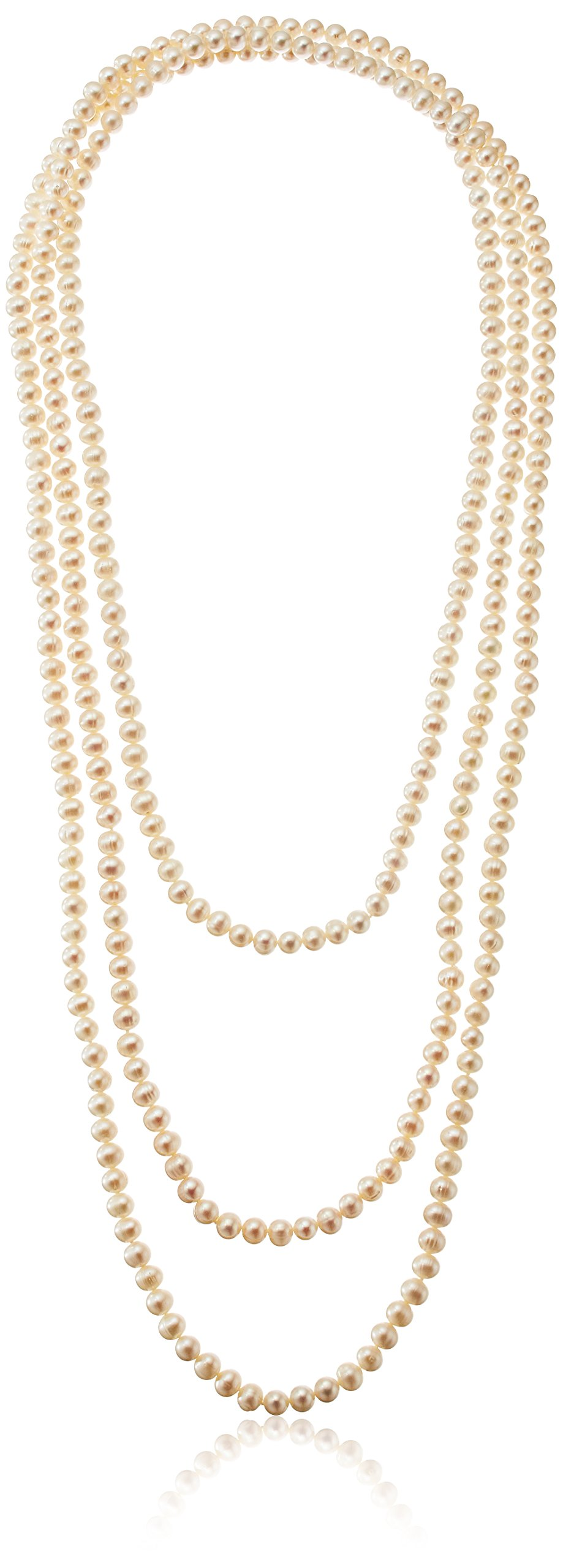 Freshwater Cultured 7-7.5mm Pearl Endless Strand Necklace, 100''