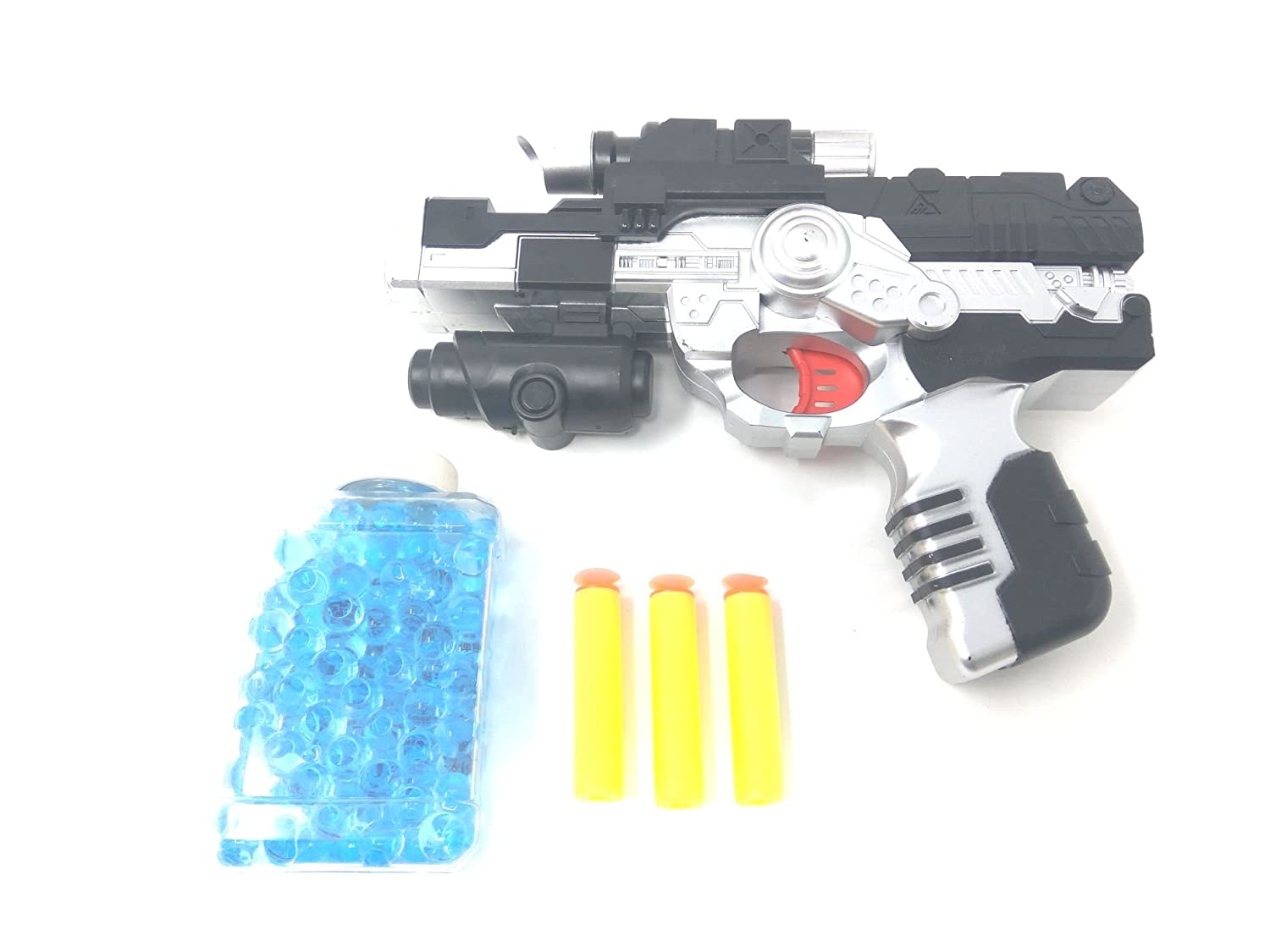 Buy Akrobo 2-In-1 Black Hawk Pistol/Gun With 400 Jelly Shots